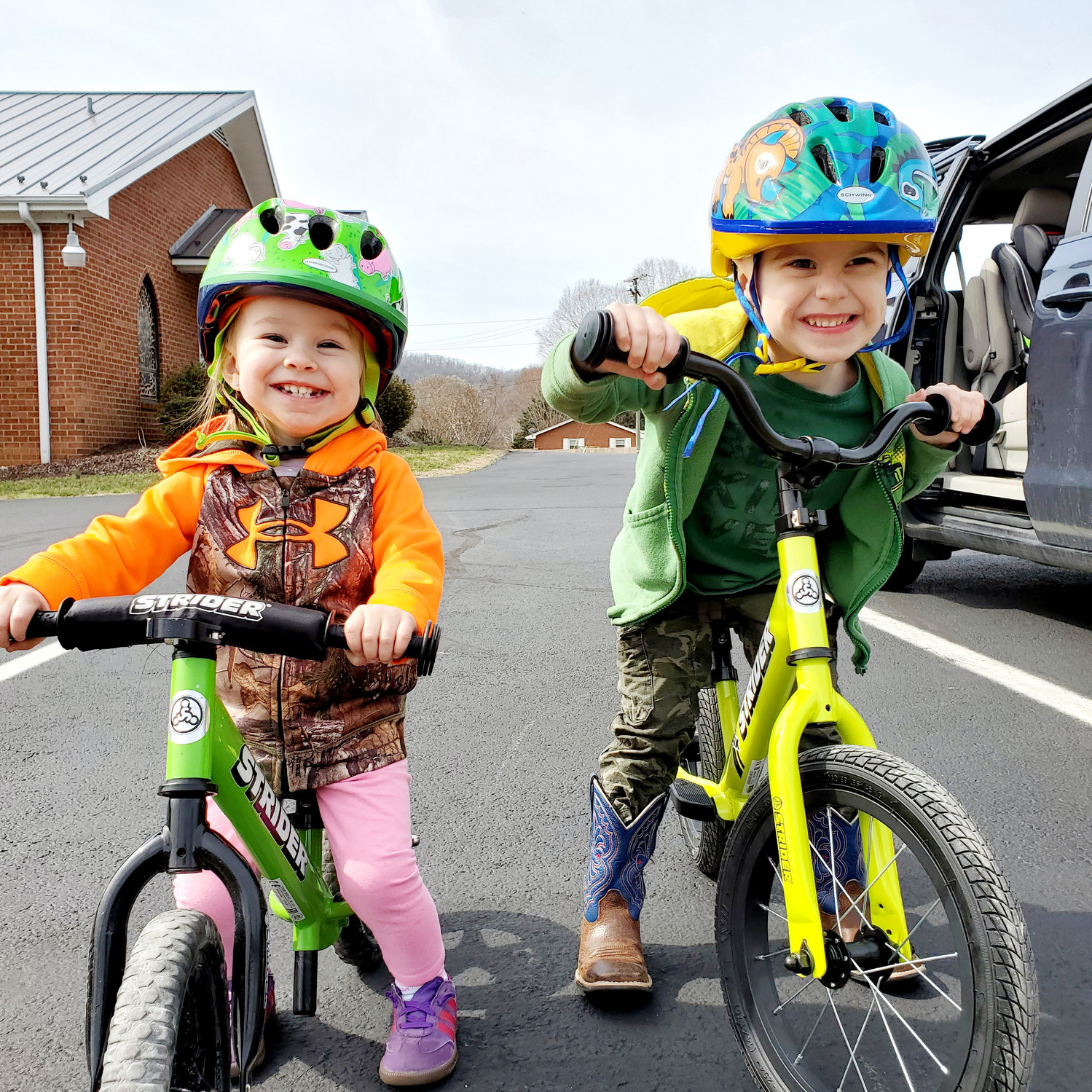 The Progression Of Learning To Ride A Bike = The Progression Of Confidence In Children