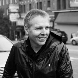 A black and white photo of All Kids Bike National Ambassador Steve Blick